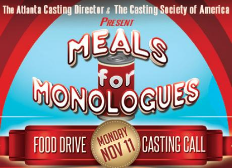 Meals for Monologues presented by The Atlanta Casting Director and the Casting Society of America